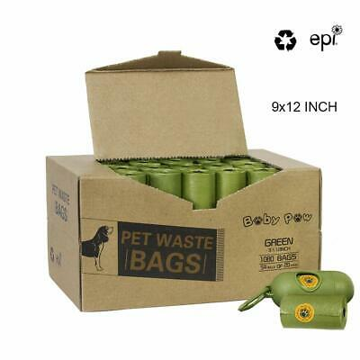 Pet Poop Bags 1080 Counts 54 Rolls 9*12 inch With Free Dispenser