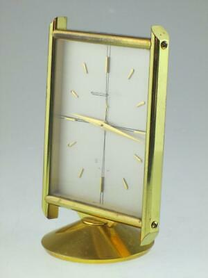 Vintage Jaeger LeCoultre 8 Day Table Clock Circa 1959