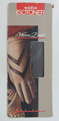 Vintage Aris Isotoner Driving Gloves #24011 - Brow- One Size