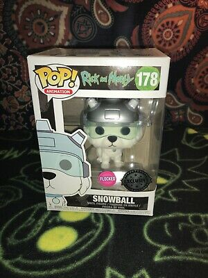 Funko Pop! Animation - Rick & Morty #178 SNOWBALL - FLOCKED variant edition