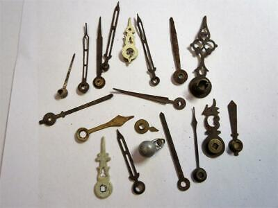 JOB LOT OF ANTIQUE CLOCK HANDS for the CLOCKMAKER - Some ornate examples!!