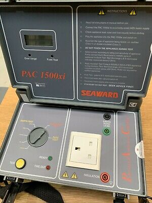 Seaward PAC1500xi PAT Tester In Excellent Condition With Connectors