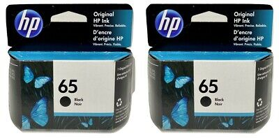 HP 65 Ink Cartridge Black 2-Pack NEW Genuine