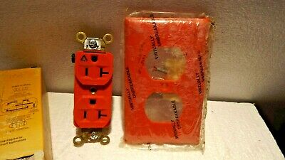 HUBBELL WIRING DEVICE-KELLEMS IG5362 20A Duplex Receptacle 125VAC 5-20R W/PLATES