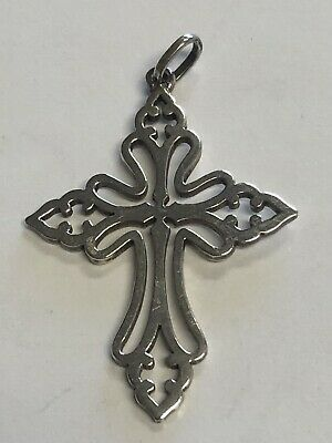 James Avery Retired 925 Sterling Silver St Cecilia Cross Pendant