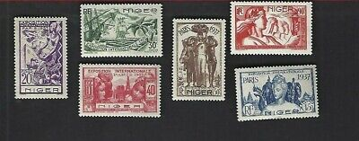 Niger sc#77-82 (1937) Complete MH