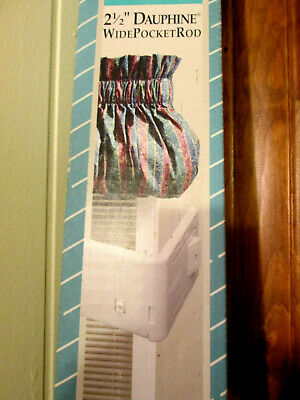 """*2-1//2/"""" Wide Pocket Curtain Rods* Choose from 4 sizes 18-156 inch"""