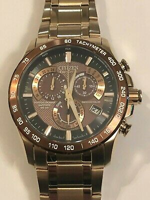 Citizen Eco-Drive Perpetual Atomic Watch Synchronization Men's Watch AT4106-52X