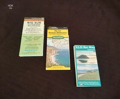 Big Sur California & SLO Map Set (3 Maps) National Geographic & Local Maps
