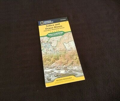 Tennessee Tellico & Ocoee River National Geographic Map Cherokee National Forest