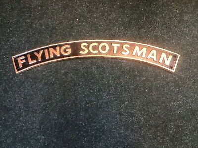 Flying Scotsman Railway Plaque Cast Iron Sign