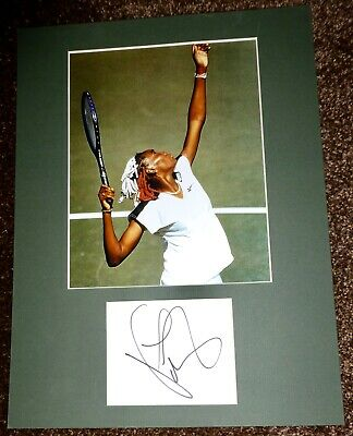 VENUS WILLIAMS-Hand Signed Card is Presented With A Photo-Mounted,Matted,COA