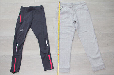 NEXT girl's light grey tracksuit bottoms  & sports leggings Decathlon, 10 years
