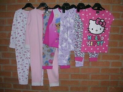 M&S HELLO KITTY TU etc Girls Pink Pyjamas Bundle Age 4-5 110cm