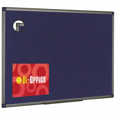 NEW! Bi-Office Felt Noticeboard 1200x900mm Blue FB1443186