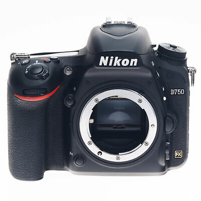 AS-IS Nikon D750 24.3MP Digital SLR FX Full Frame Camera Body Black 1543