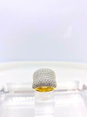 Vintage 14k Yellow Gold Cubic Zirconia Cluster Ring
