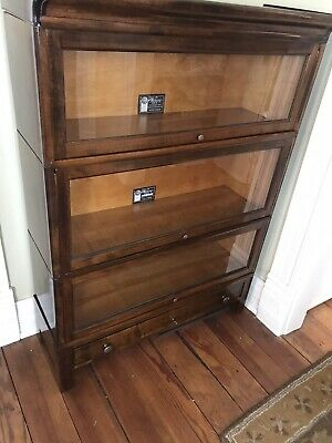 Antique Viking Lawyer Stacking Bookcase 4 section Original