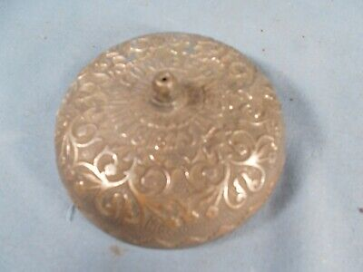 Antique Embossed Floral Cast Brass CONNELL's door bell Patent March 18 1873
