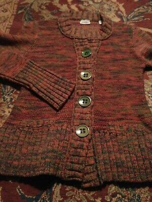NEIMAN MARCUS Women's Cardigan THICK 100% WOOL Size 38 Sweater MADE IN ITALY