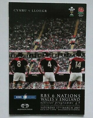 Wales  England Rugby Union Programme 2007