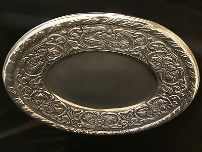 Wilton Armetale Elegant Floral Handcrafted William and Mary Oval Serving Platter