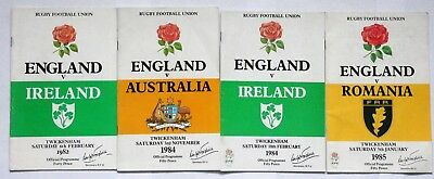 England  Rugby Union Programmes 1982-1985 (4)