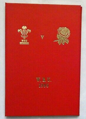 Wales England Rugby Union Presentation Programme 1995