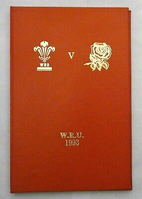 Wales England Rugby Union Presentation Programme 1993