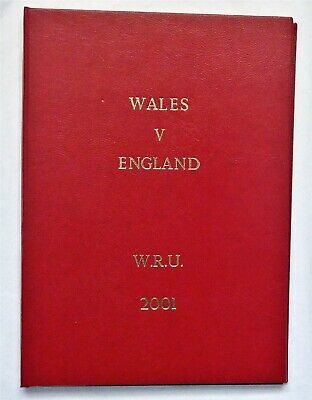 Wales England Rugby Union Presentation Programme 2001