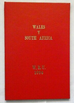 Wales South Africa Rugby Union Presentation Programme 1994
