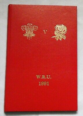 Wales England Rugby Union Presentation Programme 1991