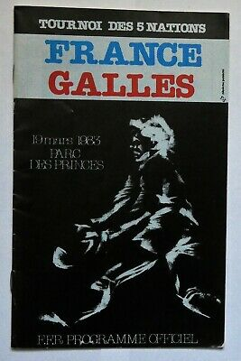France Wales Rugby Union Programme 1983