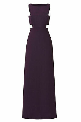 Jill Jill Stuart Purple Women's Size 2 Boat Neck Cutout Gown Dress $378- #397