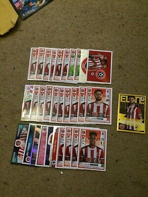 Panini Football 2020 Stickers Complete Set Of 31 Sheffield United Inc Elite