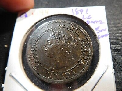 W44 Canada 1891 Large Date Large Cent UNC Brown