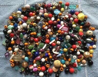 1 Lb Pound Antique & Vintage Beads - Mostly Glass - Incredible Collection - Lot