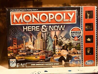"""MONOPOLY """"Here and Now"""" Edition, Brand New in Sealed Box, by Parker Brothers"""