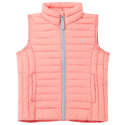 Joules Croft Girls Jacket Gilet - Pink All Sizes