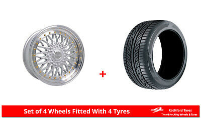 "Alloy Wheels & Tyres 17"" Dare DR-RS For Renault 21 86-94"