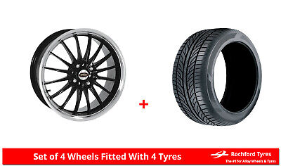 "Alloy Wheels & Tyres 15"" Team Dynamics Jet For Renault 9 81-89"