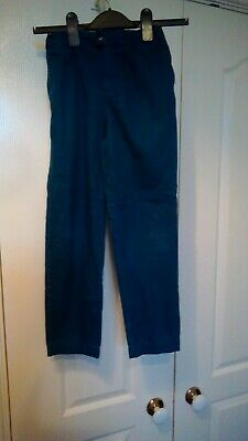 MARKS AND SPENCER AUTOGRAPH BOY'S TEAL CHINOS AGED 9 - 10 years