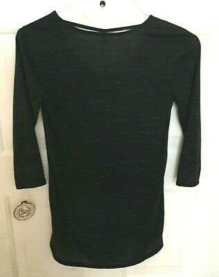 SO Tunic Top Women's Small Black White Strappy Front NWT