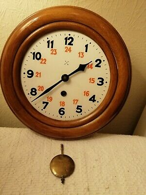 Superb German Wall Clock, Hac /  Junghans W74 Movement, Working Perfectly.