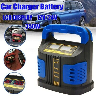 200000mah 350W 12/24V Auto Car Battery Charger LCD Smart Repair Maintainer US