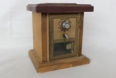 Vintage 1958 US Post Office PO Box BRASS DOOR COMBINATION LOCK BANK / Safe