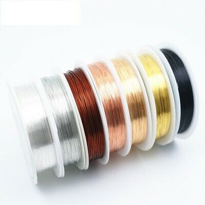 Wire Copper Silver Colorfast Craft Jewelry Making Bracelet Necklace Accessories