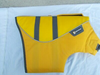 Ruffwear Dog Float Coat Life Jacket Yellow Vest Size Large L