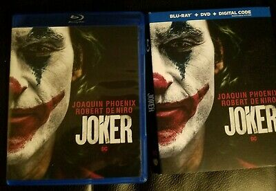 Joker (2019) 1080P Bluray + Case + Slipcover ONLY, NO DIGITAL COPY and NO DVD