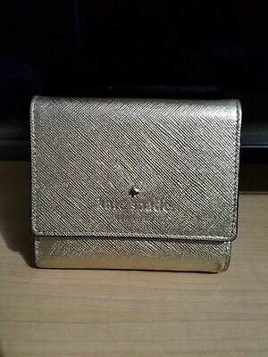 Kate Spade New York Small Gold Wallet with Coin Pouch